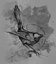 20171016 bird sketch psdelux by psdeluxe