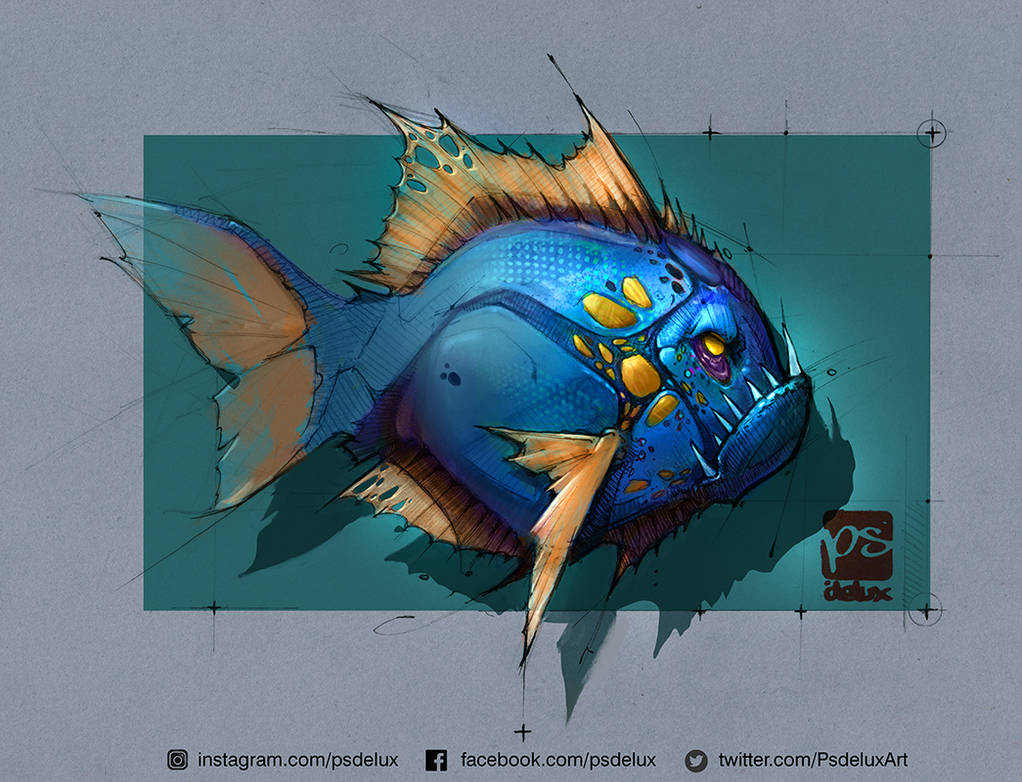 Piranha Colored Psdelux by psdeluxe