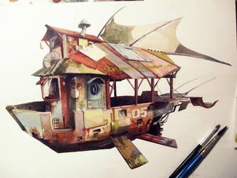 Mecha design: Boat by Toth-eM