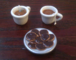 Tea, biscuits and gossip by NocturnalRaven