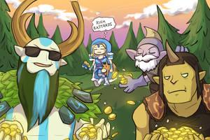 Farming gods by keterok