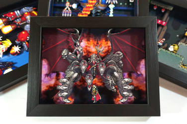 Castlevania Symphony of the Night Shadow Box by XABYPrints