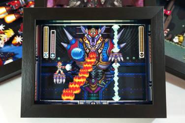 Mega Man X Shadow Box by XABYPrints