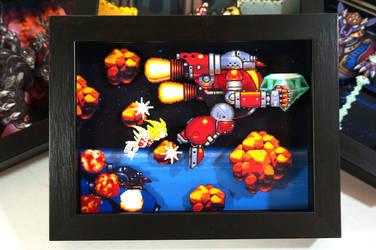 Sonic The Hedgehog 2 Shadow Box by XABYPrints
