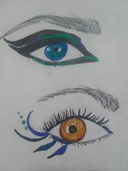 More eyes by Draconic-Artist