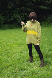 Evil Chara from Undertale Cosplay [2] by ArrhythmiaNyx