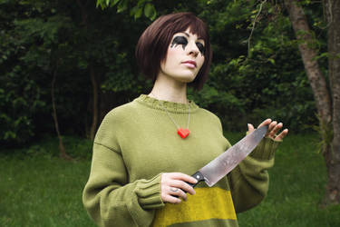 Evil Chara from Undertale Cosplay [3] by ArrhythmiaNyx