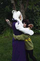 Evil Chara and Asriel from Undertale Cosplay [2] by ArrhythmiaNyx