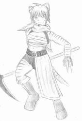 Scythe Kitty by LegendaryWatermelon