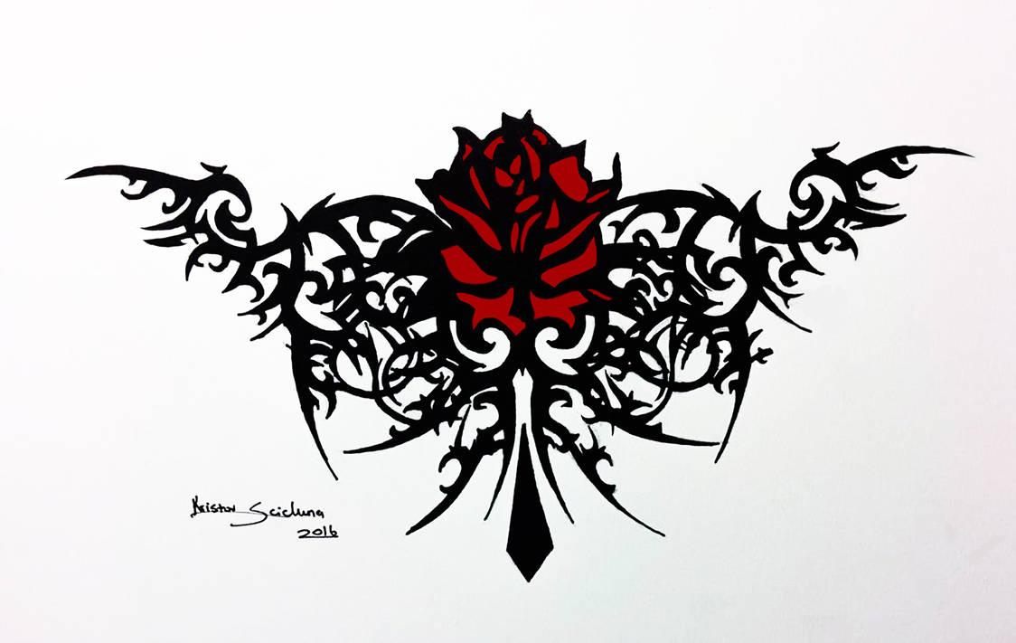 Tribal Rose Tattoo Design Kristov Scicluna By Artistks On Deviantart