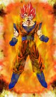 Super Saiyan God Goku Power Up by EliteSaiyanWarrior