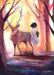 Dear deer by LawlietXD