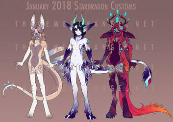 January StarDragon Customs 2018 by CuttleSkulls