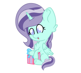 {Gift} Aqua opening a present by ThatOnePeggles