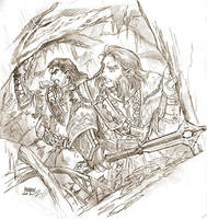 Young Balin and dwalin by Kazuki-MENDOU