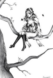Inktober #24 - Queen of the Woods [Fantasy] by montageofheck