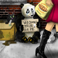 PANDA DOWN ON HIS LUCK by SCT-GRAPHICS