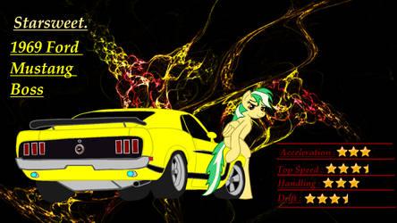 Mlp Street Racing pony's  StarSweet. by Mennorino