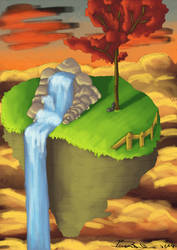 Flying Island by Braweria