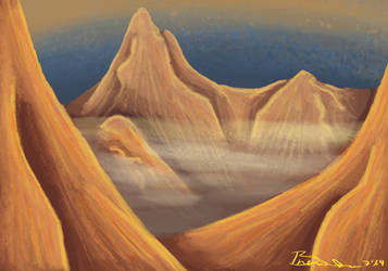 Red Mountains by Braweria