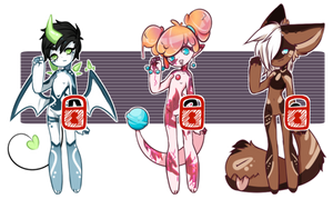 SALE :: Mixed Adoptables [[SOLD]] by Omega-Fluff