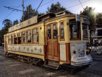 Tram in Porto by Engazung