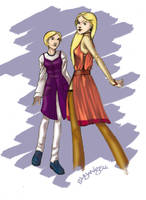 Victoire and Dominique by shyangell