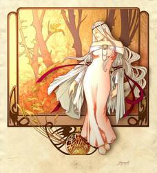Celebrian of Lorien by shyangell
