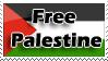 Palestine Free stamp by Nakamo