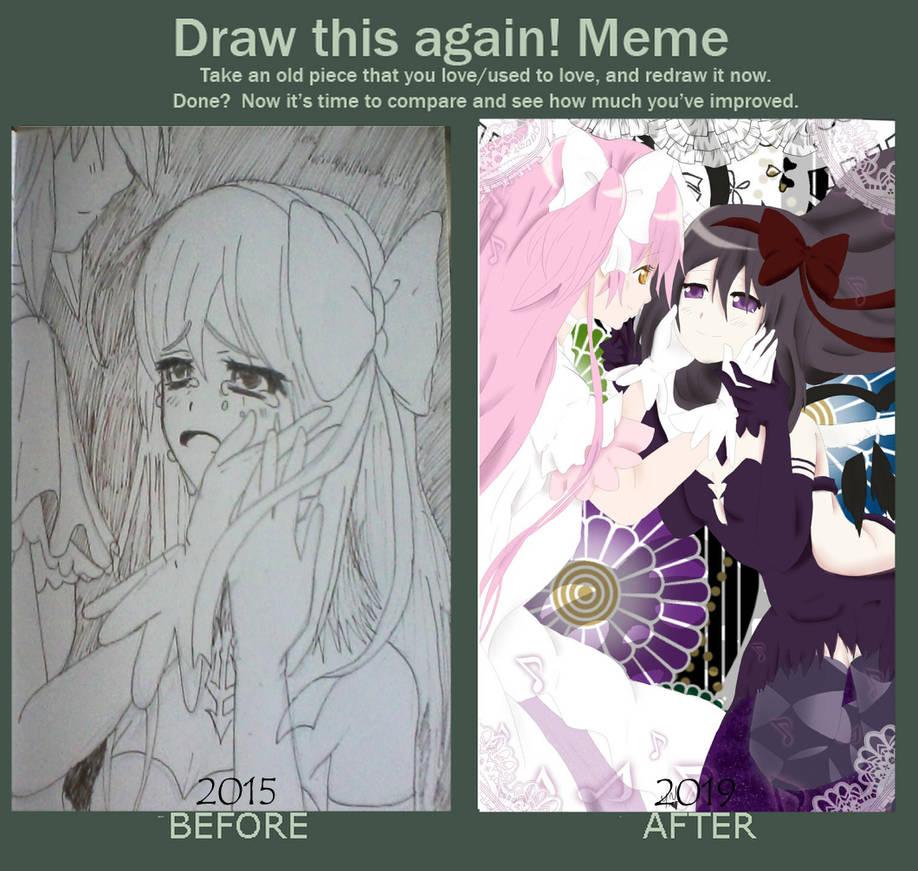 Draw this again!: Madokami and Homucifer by yuna500
