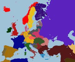 Map of Europe, around 1970 (Napoleon won, biatch!) by TiltschMaster