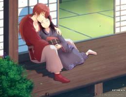 Kenshin and Kaoru by Deyvidson