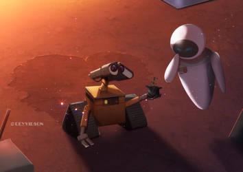 Wall-e and eva by Deyvidson