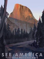 See America - Yosemite by Alicique