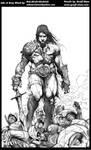 Conan Inks by Misfit over Geoff Shaw pencils1 by Bob-Misfit-Modelski