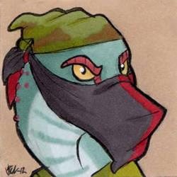 Commission - Masked Cura-Ocllo icon by Vicnor