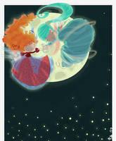 danser devant la lune by Pocket-Zoo
