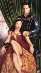 Anne Bolyen and Henry Tudor  by felineartstudio