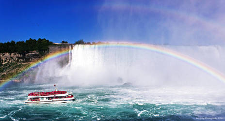 Rainbow @ Niagara Falls in Canada. by JDM4CHRIST