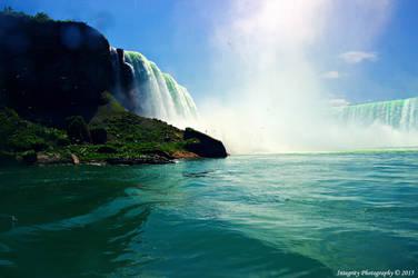 Niagara Falls From Below. by JDM4CHRIST
