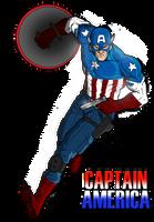 Captain America by SamGreenArt