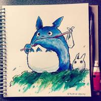 Totoro Doodle by studioodin