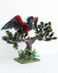 Crimson Pandaren Phoenix World of Warcraft by ColibriWorkshop