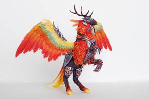 Flameward Hippogryph World of Warcraft by ColibriWorkshop
