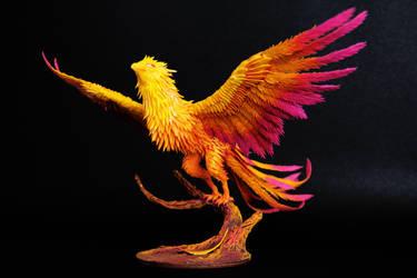 Phoenix fantasy figurine sculpture OOAK by ColibriWorkshop