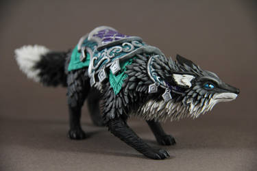 Llothien Prowler Fox (World of Warcraft sculpture) by ColibriWorkshop