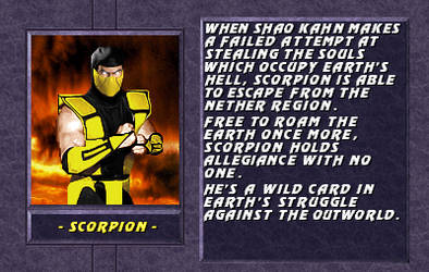 Scorpion bio by ungraves