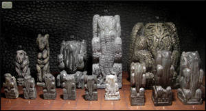Stone Cthulhu Idol Collection by CopperCentipede