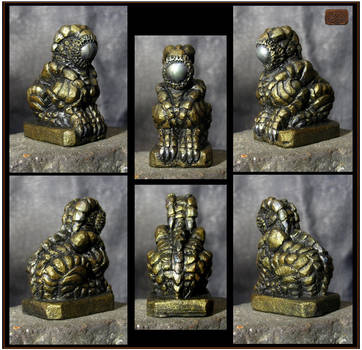 Dark Bronze and Silver Orb Guardian by CopperCentipede