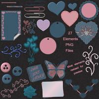Falling In Love Scrap Elements by sdreamer31